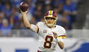 Washington Redskins quarterback Kirk Cousins throws during the first half of an NFL football game against the Detroit Lions, Sunday, Oct. 23, 2016 in Detroit. (AP Photo/Paul Sancya)
