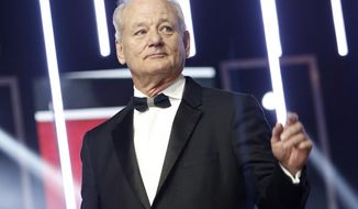 "FILE - In this Dec. 4, 2015, file photo, Bill Murray gestures prior to receiving an award for his contribution to acting, during the 15th Marrakech International Film Festival in Marrakech, Morocco. On Sunday, Oct. 23, 2016, Murray will receive the Mark Twain Prize for American Humor, at the Kennedy Center in Washington. The 66-year-old Murray joins several other ""Saturday Night Live"" alumni who've received the prize, including Tina Fey, Will Ferrell and last year's winner, Eddie Murphy. (AP Photo/Abdeljalil Bounhar, File)"