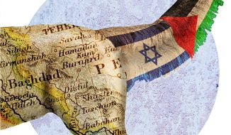The Tail Wagging the Middle East Dog Illustration by Greg Groesch/The Washington Times