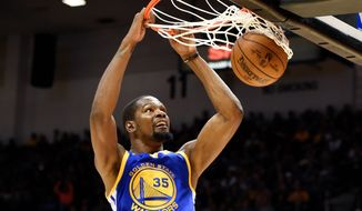 Kevin Durant, a former scoring champion and MVP, joined the record-setting Golden State Warriors in the offseason, a team that has the current MVP and scoring champion.