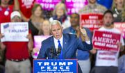 Republican vice-presidential nominee Gov. Mike Pence speaks at the Special Events Center of the Greensboro Coliseum in Greensboro, N.C., Monday, Oct. 24, 2016. (H. Scott Hoffmann/News & Record via AP) ** FILE **