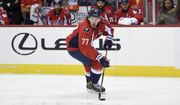 Washington Capitals right wing T.J. Oshie (77) skates with the puck during the second period of an NHL hockey game against the New York Rangers, Saturday, Oct. 22, 2016, in Washington. (AP Photo/Nick Wass)