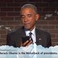 """President Obama agreed to take part in comedian Jimmy Kimmel's popular """"Mean Tweets"""" segment for his show, Oct. 24, 2016. (YouTube, Jimmy Kimmel)"""