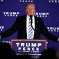 Donald Trump speaking at Gettysburg, PA      Associated Press photo