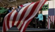 Democratic presidential candidate Hillary Clinton arrives at a rally at Palm Beach State College in Lake Worth, Fla., Wednesday, Oct. 26, 2016. (AP Photo/Andrew Harnik)