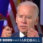 "Vice President Joseph R. Biden appears on MSNBC's ""Hardball"" with Chris Matthews, Oct. 26, 2016. (MSNBC screenshot)"