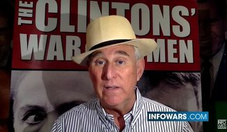 Donald Trump's former campaign adviser Roger Stone. (YouTube/The Alex Jones Channel) ** FILE **