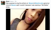 Screen capture from singer Sevyn Streeter's Twitter page.