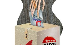 Really, Really Old Voters Illustration by Greg Groesch/The Washington Times