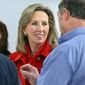 Freshman Republican Rep. Barbara Comstock may see her re-election bid sink thanks to Donald Trump. (Associated Press)
