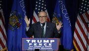 Former New York City Mayor Rudy Giuliani campaigns for Republican presidential candidate Donald Trump at the University of Wisconsin Eau Claire, Tuesday, Nov. 1, 2016, in Eau Claire, Wis. (AP Photo/Matt Rourke)