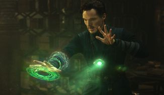 """This image released by Disney shows Benedict Cumberbatch in a scene from Marvel's """"Doctor Strange."""" (Disney/Marvel via AP)"""