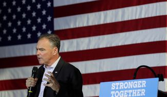 Democratic vice presidential candidate Tim Kaine will address Arizona voters in Spanish on Thursday, as the GOP works to court Hispanic voters. (Associated Press)