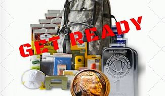 """Two businesses are now offering """"election armageddon"""" survival packages, just in case thing get weird on Nov. 8. (U.S. gold bureau)"""