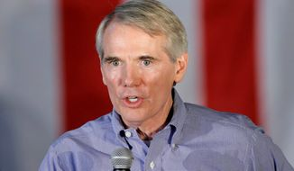 Sen. Rob Portman, Ohio Republican, has earned the support of the Buckeye State's substantial labor voting bloc, even as the same group is largely backing Democrat Hillary Clinton for president. (Associated Press)