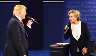 Republican presidential nominees Donald Trump and Democratic presidential nominee Hillary Clinton will be campaigning this weekend. (Associated Press)