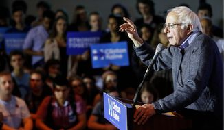 Sen. Bernie Sanders, the Vermont independent whom Hillary Clinton vanquished on her way to the Democratic presidential nomination, is still winning voters who believe in his message over Mrs. Clinton or Donald Trump. (Associated Press)