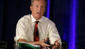 Billionaire environmentalist Tom Steyer has spent $100 million of his own money to push climate change to the forefront of the 2016 election debates. (Associated Press)