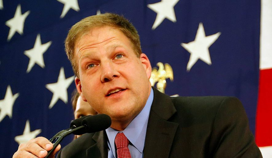 New Hampshire Republican Chris Sununu followed in father John Sununu's footsteps by winning the open governor seat vacated by Democratic Gov. Maggie Hassan. (Associated Press)