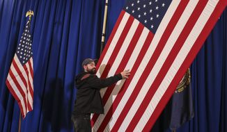 New Hampshire Democratic Gov. candidate Colin Van Ostern's election night rally is broken down after the event was called off due to the tight New Hampshire governor's race, Wednesday, Nov. 9, 2016, in Manchester, N.H. (AP Photo/Cheryl Senter)