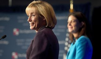 New Hampshire Gov. Maggie Hassan (left) defeated Republican incumbent Sen. Kelly Ayotte. (Associated Press)