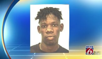 Andre Hudson, a 17-year-old Bayside High School student, is facing battery charges after he allegedly punched a classmate holding a Donald Trump sign and then attacked school officials who tried to restrain him. (Palm Bay Police Department via WKMG)