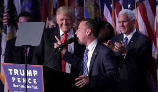 RNC Chair Reince Priebus will get his due thanks for being instrumental in Donald Trump's election as the president-elect nominated him for chief of staff. (Associated Press)