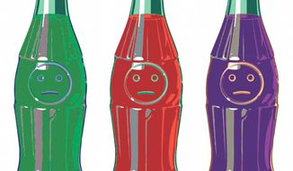 Illustration on the timidity against soda taxes by Alexander Hunter/The Washington Times