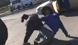 David Wilcox is beaten on the streets of Chicago after voting for Donald Trump on Nov. 8, 2016. (ABC News 7 Chicago screenshot)