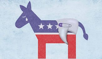 Crybaby Diapered Democrats Illustration by Greg Groesch/The Washington Times