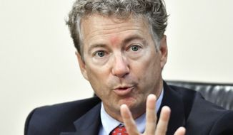 Sen. Rand Paul's unequivocal opposition to some of the names floated for key posts in the next presidential administration was the first sign that Donald Trump can't count on the Republican majority in Congress to toe the line for him. (Associated Press)