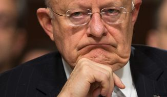 Director of National Intelligence James R. Clapper, who has worked in the U.S. intelligence community for a half-century, officially submitted his resignation on Thursday, saying he is contented with the decision to retire. (Associated Press)