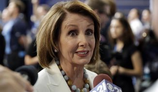 In a post on their site, the National Republican Congressional Committee endorsed Rep. Nancy Pelosi as minority leader, saying she was invaluable in putting the chamber in Republican hands. (Associated Press)
