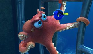 "Hank the Octopus helps Dory in ""Finding Dory,"" available on Blu-ray from Walt Disney Studios Home Entertainment."