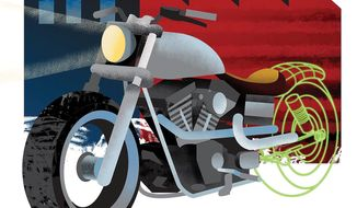 Illustration on the example of Harley Davidson by Linas Garsys/The Washington Times