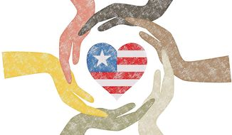 Hands and Heart Illustration by Greg Groesch/The Washington Times