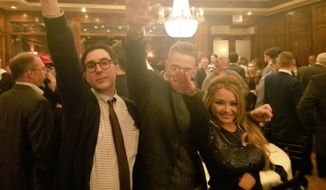 Protesters demonstrated at the Maggiano's Little Italy in Friendship Heights over the weekend after former reality TV star and outspoken Nazi sympathizer Tila Tequila tweeted a photo of herself and two men giving a Heil Hitler salute inside the restaurant on Friday night. (Twitter/@AngelTilaLove)