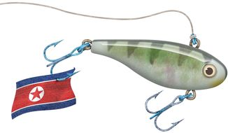 Fishing North Korea Illustration by Greg Groesch/The Washington Times