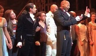 The Broadway cast of 'Hamilton' breaks the fourth wall for Mike Pence
