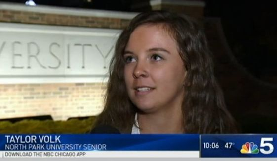 An openly bisexual Chicago student who claimed she received anti-gay, pro-Donald Trump notes and emails after the election is found to have fabricated the entire story, North Park University said. (NBC Chicago)