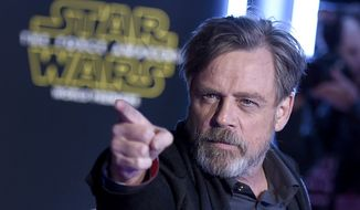 """I'm in total denial,"" actor Mark Hamill said. ""If you look at what's being assembled for our government it's like, yikes. It's a who's-who of really despicable people."" (Associated Press)"