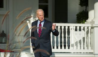 """Vice President Joseph R. Biden, whose son Beau died of brain cancer, is calling for $1.8 billion in funding for his """"moonshot"""" project to find a cure. (Associated Press)"""