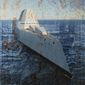 Illustration on the problematic Zumwalt class destroyer by Alexander Hunter/The Washington Times
