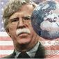 Illustration of John Bolton by Alexander Hunter/The Washington Times