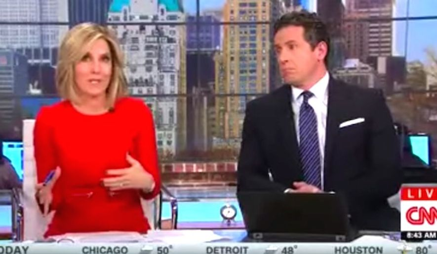 """CNN """"New Day"""" co-host Alisyn Camerota suggested on Monday, Nov. 29, 2016, that American non-Muslims might want to start a """"movement"""" to wear hijabs as way to show solidarity with fearful Muslim immigrants. (CNN screenshot)"""