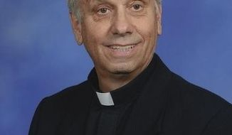 This undated photo provided by the Archdiocese of Louisville shows the Rev. Joseph Hemmerle. Hemmerle is on trial in Kentucky for allegedly abusing a camper in the 1970s at a summer camp he ran. Hemmerle is facing two counts of a sexual abuse-related charge. He is testifying Tuesday, Nov. 29, 2016, in Meade County, Ky. (Archdiocese of Louisville via AP)