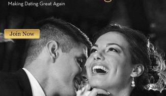 """Businessman Dave Goss told The Hollywood Reporter on Dec. 2, 2016, that he now must work full time to maintain his """"Trump Singles"""" dating website. (TrumpSingles.com screenshot)"""