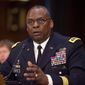 "Military intelligence officers under Gen. Lloyd Austin ""instituted various organizational and process changes that negatively affected the quality and timeliness of intelligence production,"" a task force has reported. (Associated Press)"