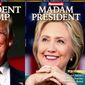 Hillary Clinton's now-recalled Newsweek cover is now a collector's item with a hefty price on eBay. Donald Trump's version is still on newsstands. (Newsweek)