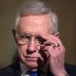 Retiring Sen. Minority Leader Harry Reid's method of filibustering will likely fail to block Donald Trump's picks. (Associated Press)